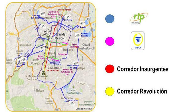 Circuito Bicentenario : Circuito bicentenario paradas mapa Éstas son todas las
