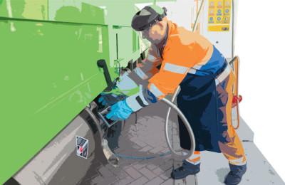 seguridad en autobuses a gas natural