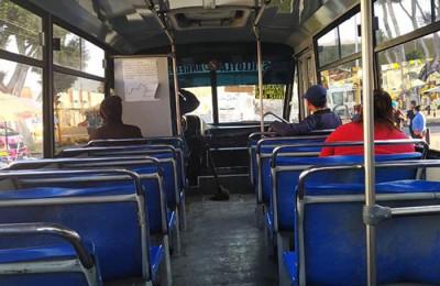 DATA muestra ocupación de transporte público durante pandemia