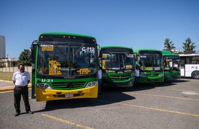 Entregan los primeros 200 autobuses de transporte público adquiridos con apoyo del Estado