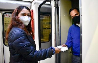 Donan cubrebocas para conductores de las rutas alimentadoras del tren eléctrico en ZMG