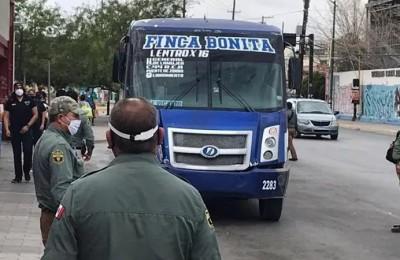 Emprenden operativo contra Covid-19 en el transporte público de Chihuahua