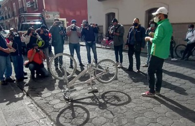 En Puebla ciclistas exigen implementar Ley de Seguridad Vial