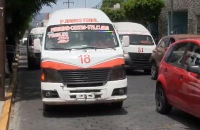 Envejecen unidades de transporte público en Tehuacán, Puebla.