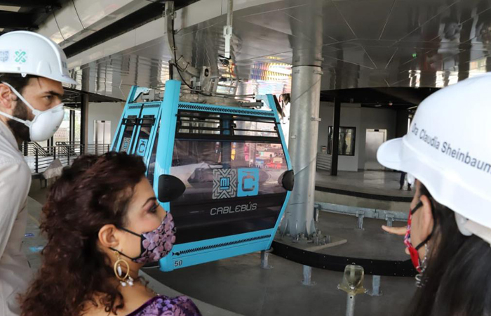 Línea 2 del Cablebús en Iztapalapa registra avance del 92%