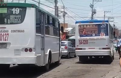 Unidades de transporte público aún circulan sin placas en Salamanca