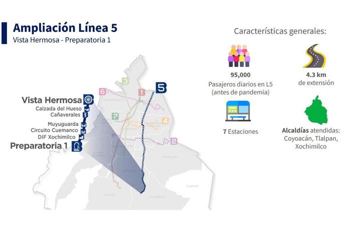 Iniciará el 3 de mayo la operación en ampliación de la L5 del Metrobús
