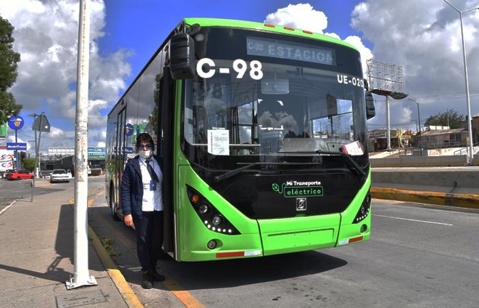 Este domingo inició operaciones la primera ruta de autobuses eléctricos en México