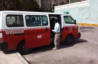 Sanción a conductores de transporte público en Campeche