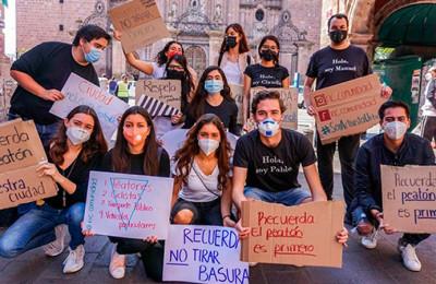 Activistas impulsan la seguridad vial en Morelia
