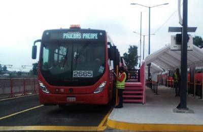Disminuye tiempo de recorrido en Metrobús en Tláhuac