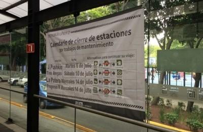 Línea 3 de Metrobús anuncia cierres programados